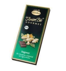 LIEBHART'S AMORE BIO – Ciocolată amăruie cu ghimbir, 55% cacao, 100 g