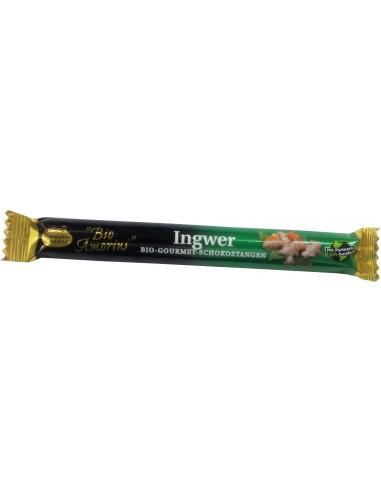 LIEBHART'S BIO AMORINI – Baton de ciocolată Bio Gourmet cu ghimbir, 35 g