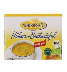 Erntesegen – Cuburi Bio pentru supă, cu pui, 66g (6x11g)