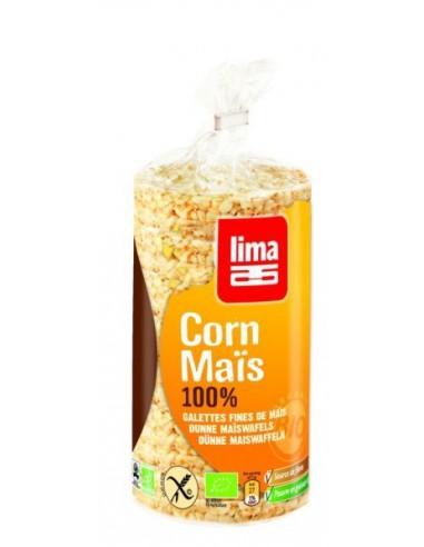 LIMA - Vafe Bio subțiri din mălai, 120 g