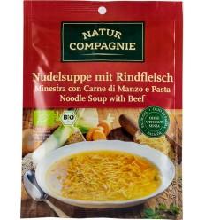 Natur Compagnie - Supa bio de taitei cu carne de vita, 40g