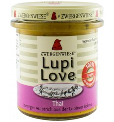 Lupi Love - Cremă tartinabilă Bio vegetală din lupin cu cocos și mirt lamâios - 165 g