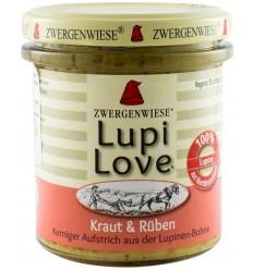 Lupi Love - Cremă tartinabilă Bio vegetală din lupin cu verdețuri și sfeclă albă - 165 g