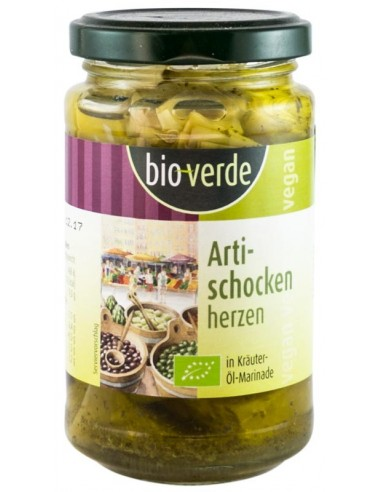 Bio Verde - Inimi Bio de anghinare, marinate în ulei și verdețuri, 200g