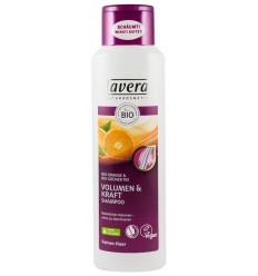 LAVERA - Sampon pentru volum si rezistenta cu portocale bio si ceai verde bio, 250 ml