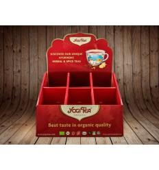 Display carton pentru 6 cutii ceai Yogi Tea