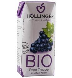 Suc bio de struguri rosii Hollinger 200 ml