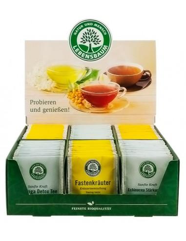Display carton pentru servire ceai Lebensbaum
