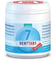 DENTTABS – Tablete pentru curatarea dintilor cu menta si stevie, cu fluor – 125 tablete
