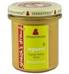 Zwergenwiese – Crema tartinabila bio vegetala Ingwery, 160g