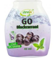 SteviJa GO - Indulcitor pe baza de stevie cu aroma de coacaze negre, 40ml