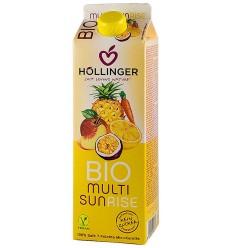 Multi Sunrise suc BIO din amestec de fructe, 1L HOLLINGER