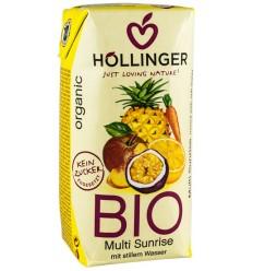 Hollinger - Multi sunrise suc BIO din amestec de fructe, 0,2 l