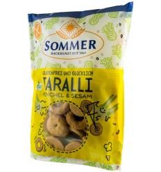 Sommer - Taralli BIO fara gluten cu fenicul si susan, 100g