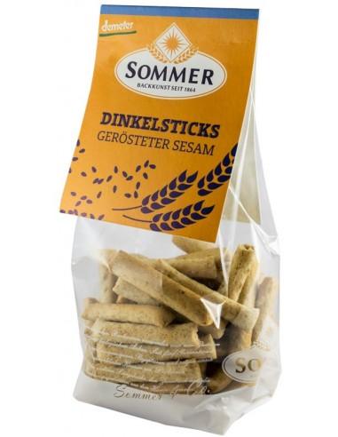 Sommer - Mini sticksuri din spelta cu susan prajit, BIO si Demeter 100g