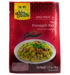 Asian Home Gourmet – Pastă cu condimente pentru orez thailandez cu ananas , 50g