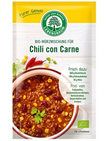 LEBENSBAUM – Amestec BIO de condimente pentru Chili con Carne, 30g