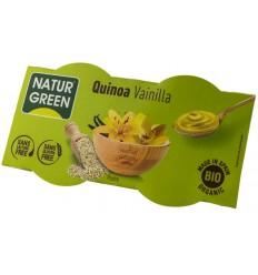 NATUR GREEN – DESERT BIO CU QUINOA SI VANILIE, 2X125 G