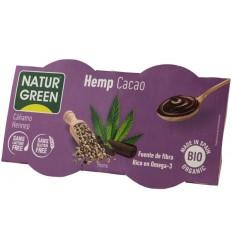 NATUR GREEN – DESERT BIO CU CANEPA SI CACAO, 2X125 G