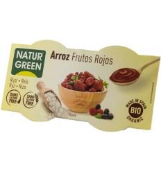 NATUR GREEN – DESERT BIO CU OREZ SI FRUCTE ROSII, 2X125 G