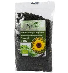 Seminte BIO de floarea soarelui pentru germinare (cu coaja), 200g