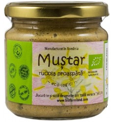 BIO FARMLAND – Mustar BIO cu rucola proaspata, 200 ml