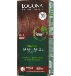 LOGONA – Vopsea de par 100 % naturala, 100g MARO CIOCOLATA, - Nuanta 091