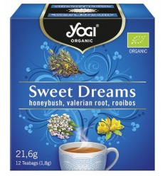 Yogi Tea - Ceai BIO vise placute cu honeybush, radacina de valeriana si rooibos, 12 plicuri - 21,6g