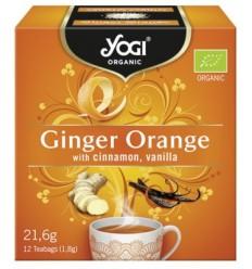 Yogi Tea - Ceai BIO cu portocale, ghimbir, scortisoara si vanilie, 12 plicuri - 21,6g