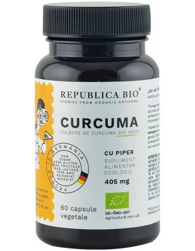 Curcuma bio (Turmeric) din India (405 mg), 60 capsule (30 g)