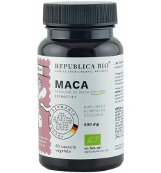 Maca bio din Peru (400 mg - extract 4:1), 60 capsule (29,7 g)