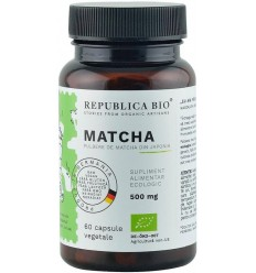 Matcha bio din Japonia (500 mg), 60 capsule (35 g)