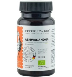 Ashwagandha bio din India (400 mg) - extract 5%, 60 capsule (29,7 g)