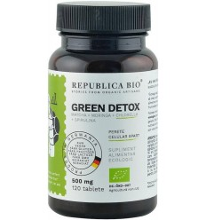 Green Detox (500 mg) supliment alimentar bio, 120 tablete (60 g)