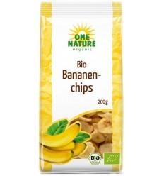 ONE NATURE - Chipsuri BIO de banane, 200g