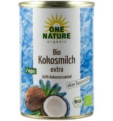 ONE NATURE - Lapte de cocos BIO extra, 400 ml