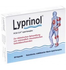 Lyprinol - Complex lipidic marin PCSO - 524® - Supliment alimentar - 60 capsule moi a 240 mg (6 blistere x 10 capsule), 14.4 g