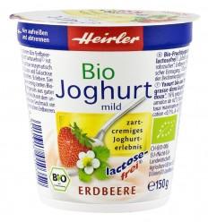 Heirler – Iaurt usor cu capsuni, fara lactoza, BIO, 150g