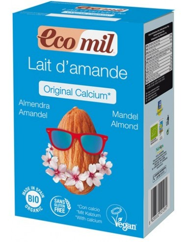 Ecomil – Pudra BIO instant pentru bautura de migdale original cu calciu, 800g