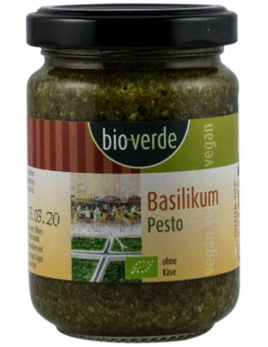 Bioverde – Sos Pesto BIO cu busuioc, 125ml