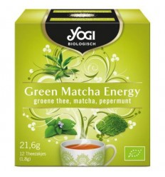 Yogi Tea - Ceai BIO Green Matcha Energy, 21,6g