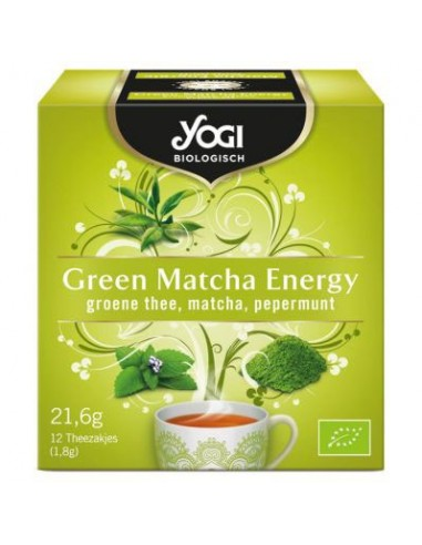 Yogi Tea – Ceai BIO Green Matcha Energy, 21,6g