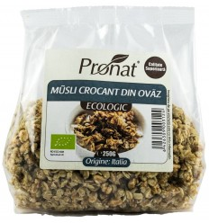 Musli crocant BIO din ovaz, 250 g