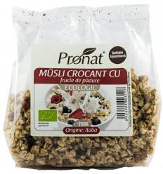 .Bio Musli crocant cu fructe de padure 250g