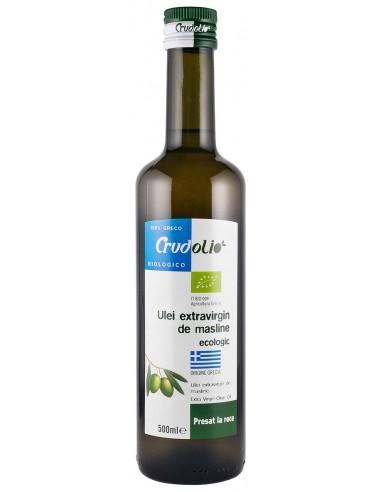 Ulei ecologic de masline extravirgin presat la rece, 500 ml