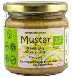 BIO FARMLAND – Mustar BIO Bavarian cu boabe intregi, 200 ml