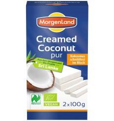 MORGENLAND - Crema de cocos BIO solida, 100% cocos, 2*100 g