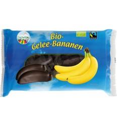 ÖKOVITAL – Jeleuri de banane invelite in ciocolată neagra, BIO si fairtrade, 250g