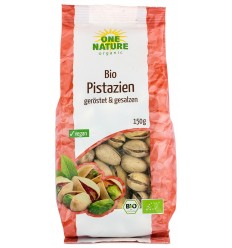 ONE NATURE - Fistic bio prajit si sarat, in coaja, 150g