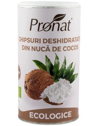 CHIPSURI DESHIDRATATE DIN NUCA DE COCOS, RAW ECOLOGICE, 110G